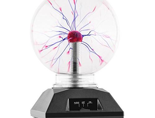 Electronic-Star Plasmakugel Blitzkugel Retro 20cm schwarz