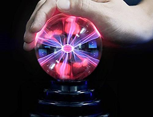 SOLMORE Plasmakugel Plasma Ball Kugel Blitze Magische Lampe USB Licht für Kinder Kindergeburtstag Spielzeug Disco Party Dekoration Geschenk Schreibtisch